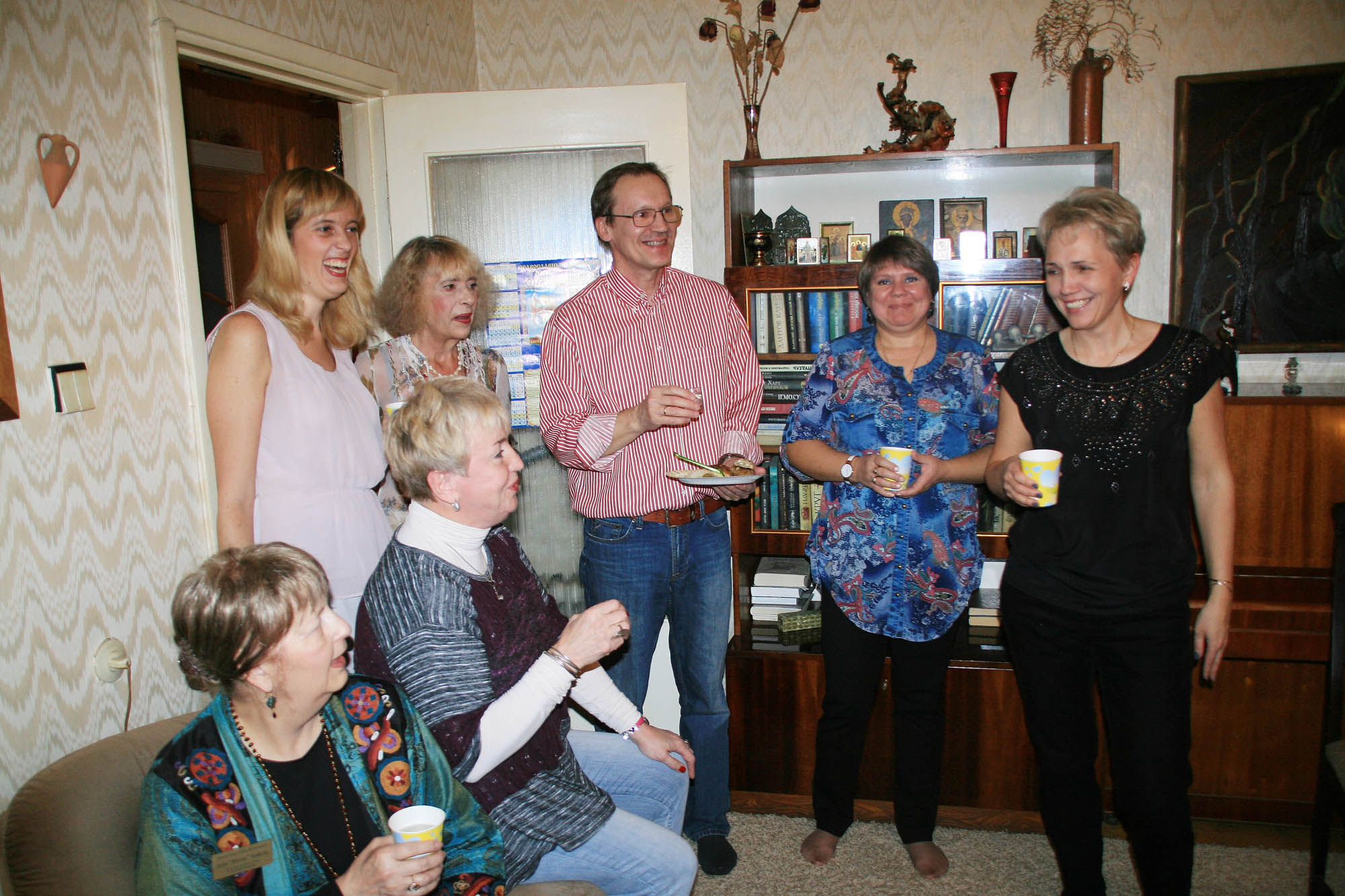 Welcome party at Vera's home in Petro